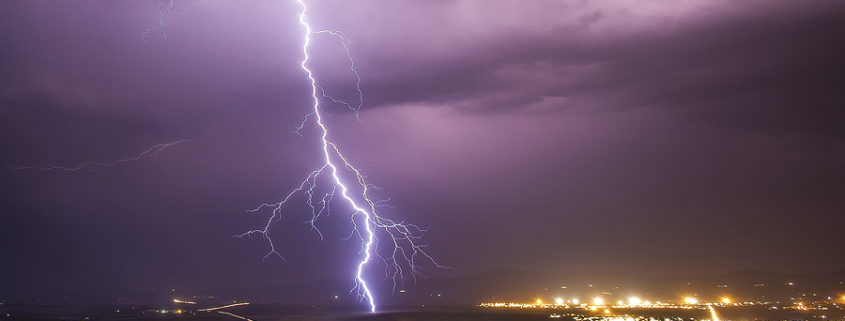 African thunder storms